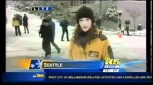 Killjoy Seattle Local News Reporter Confronted by Sledder on Live TV