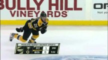 Brooks Orpik launches Daniel Paille 25 feet with Massive Hit!