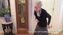 90 Year-old Grandma dances to Whitney Houston in memory