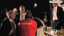 Dreck Chisora brawls with David Hayes at Klitschko post-fight conference