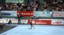 86-year-old German gymnast Johanna Quaas performs demonstration