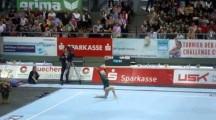 86-year-old German gymnast Johanna Quaas performs demonstration