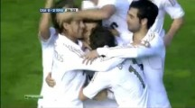 Cristiano Ronaldo of Real Madrid strikes Rocket Goal from midfield