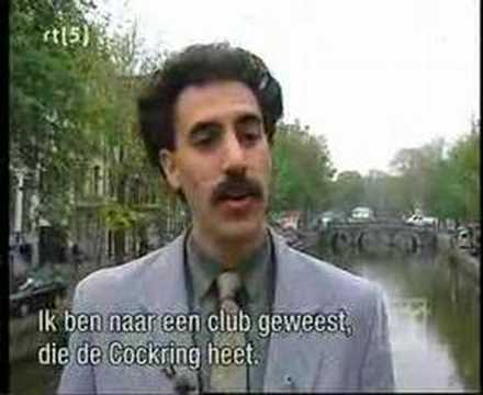 Borat visits Amsterdam
